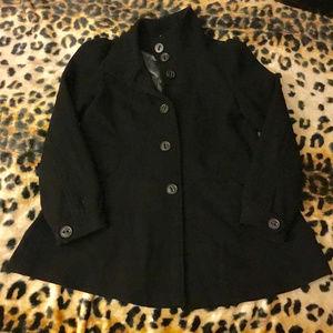 H&M Women's Black Button-Up Black Coat